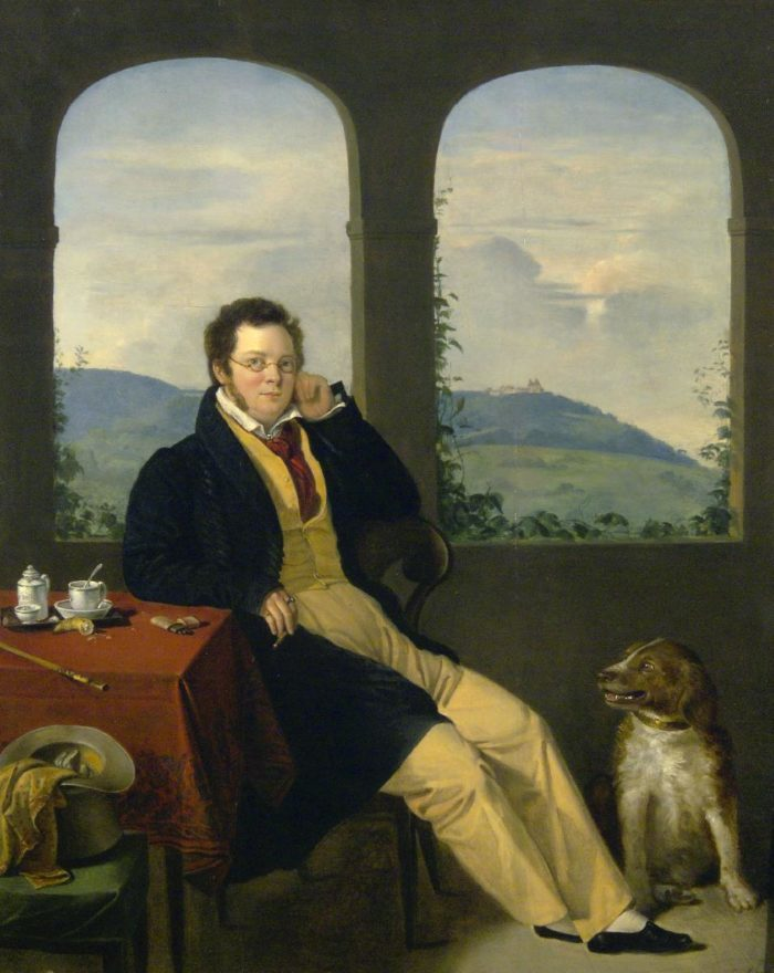 Gábor Melegh: Portrait of Franz Schubert – THE DOG