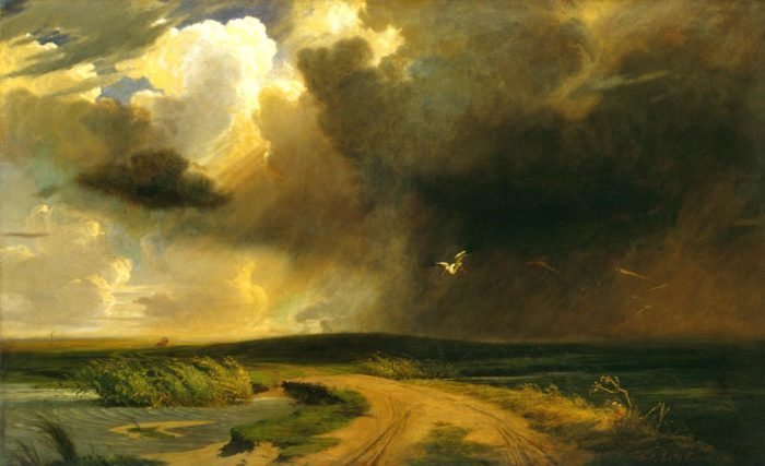 Károly Lotz: Rainstorm on the Plain – THE STORK