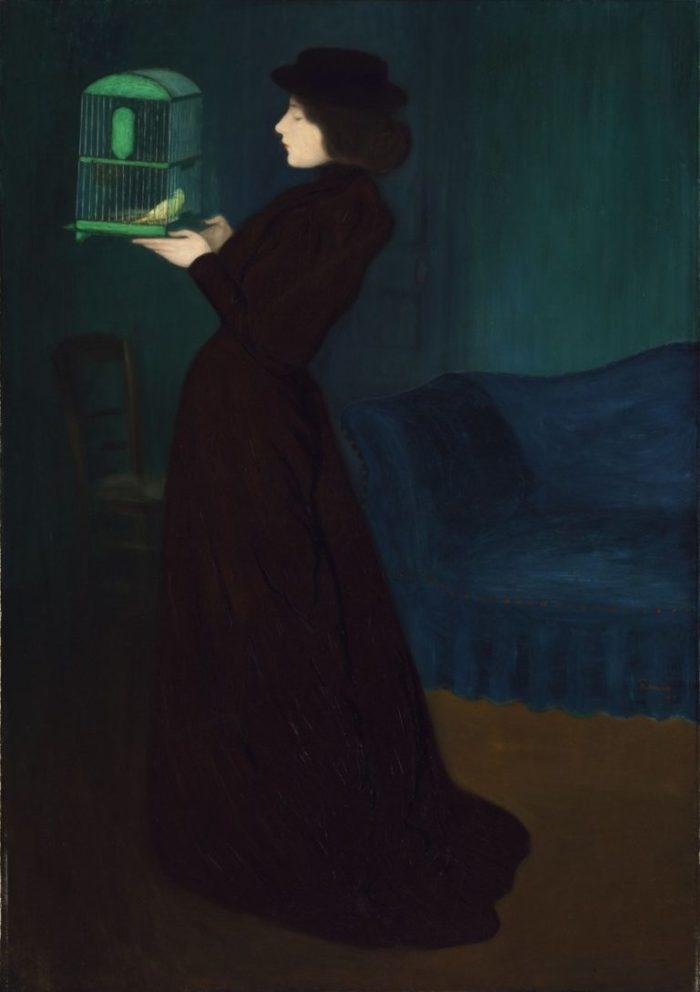 József Rippl-Rónai: Woman with a Birdcage