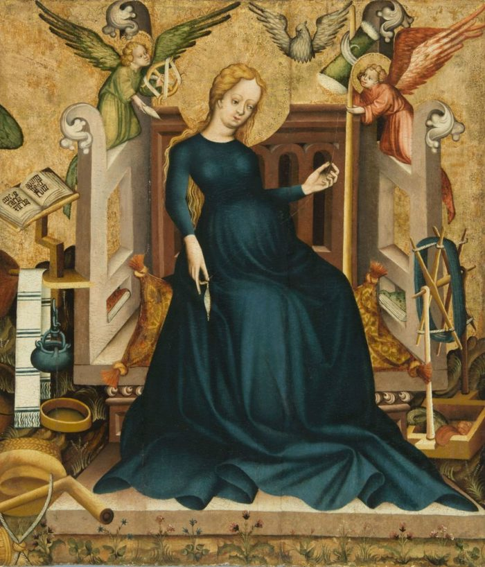 Maria Gravida, fragment of a panel painting from Németújvár, 1409