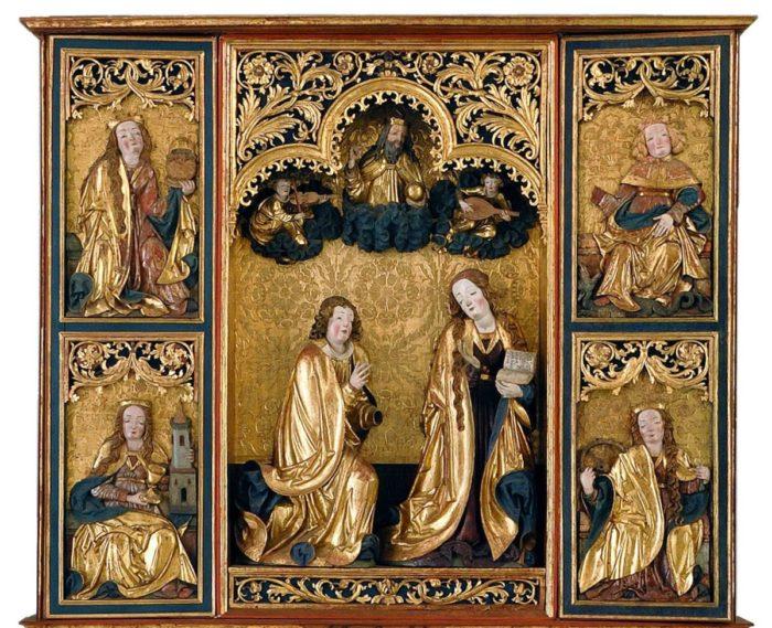 Annunciation altarpiece from the Church of John the Baptist in Kisszeben, 1510–1520