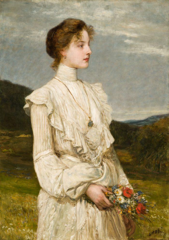 Károly Lotz: Portrait of Ilona Korongi Lippich, 1894