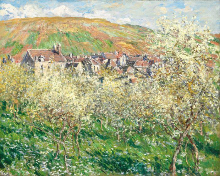 Claude Monet: Plum Trees in Blossom, 1879