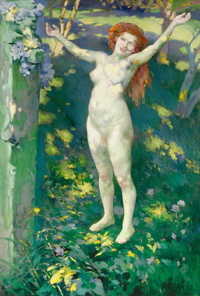 János Vaszary: The Return of Spring, 1899