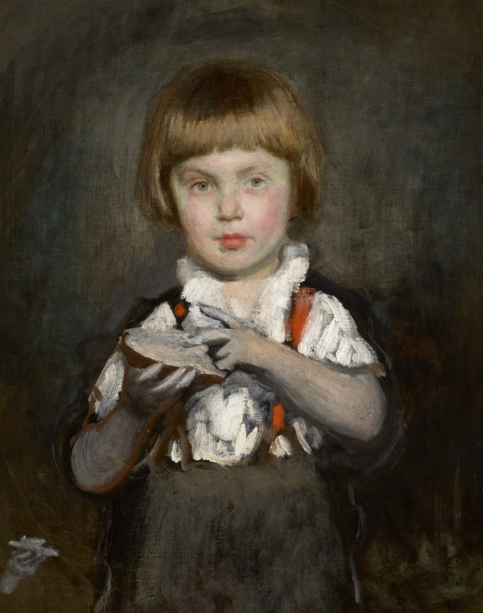 Bertalan Székely: Boy with Bread and Butter, ca. 1875