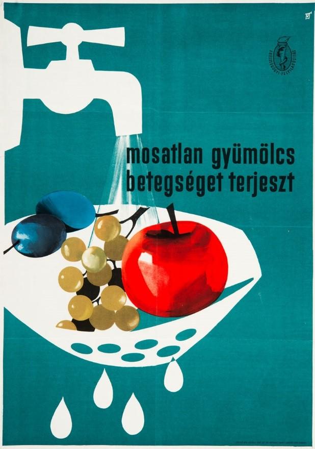 Antal Gunda: Unwashed fruits spread germs, 1961