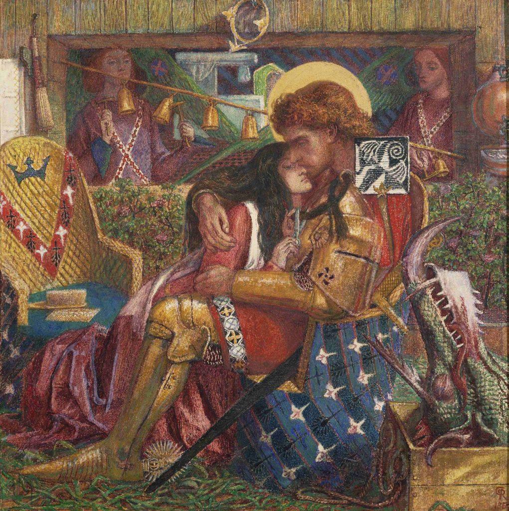 11_Dante Gabriel Rossetti, Wedding of St George and Princess Sabra, 1867