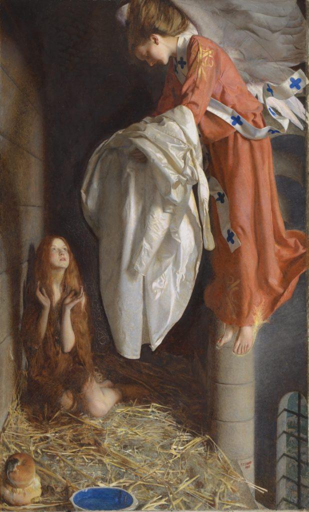 12_Cowper, Frank Cadogan, Agnes in Prison Recieving from Heaven the 'Shining White Garment', 1905